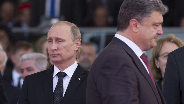 Vladimir Putin a Petro Porošenko - Sputnik Česká republika