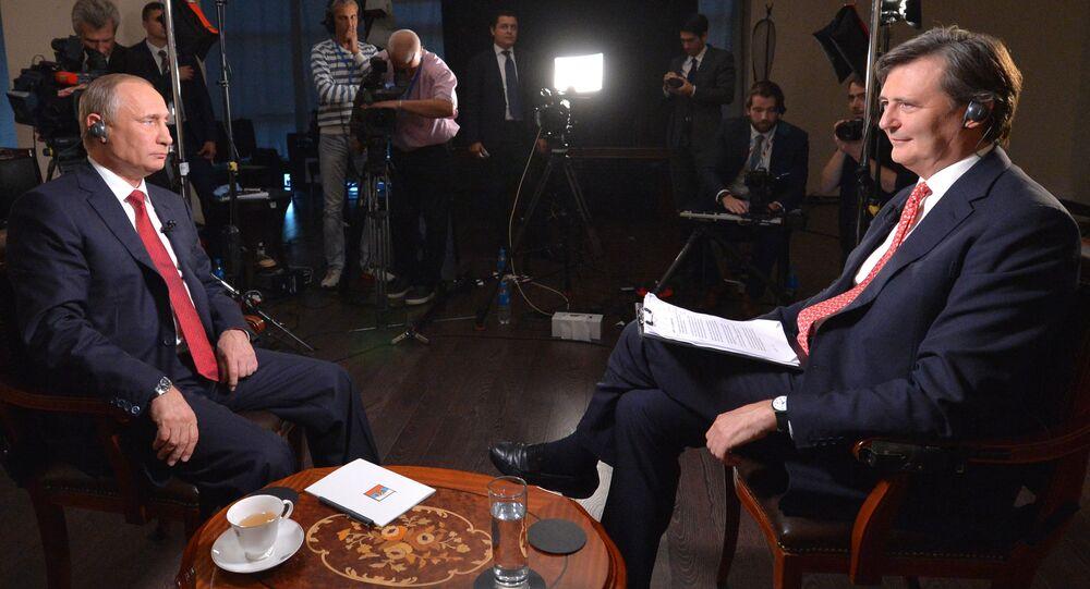 Vladimir Putin během interview pro agenturu Bloomberg