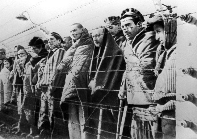 Vězni koncentračního tábora Osvětim