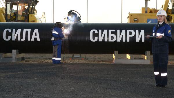 Budování plynovodu Síla Sibiře - Sputnik Česká republika