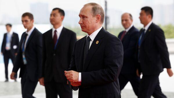 Ruský prezident Vladimir Putin během návštěvy G20 - Sputnik Česká republika