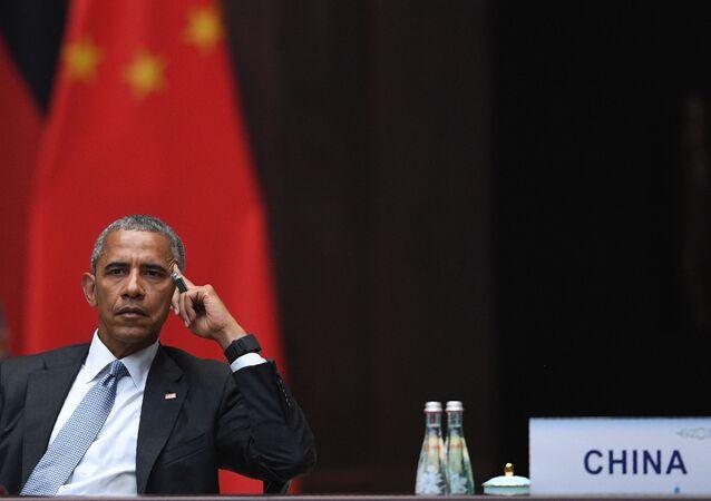 Americký prezident Barack Obama během summitu G20