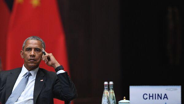 Americký prezident Barack Obama během summitu G20 - Sputnik Česká republika