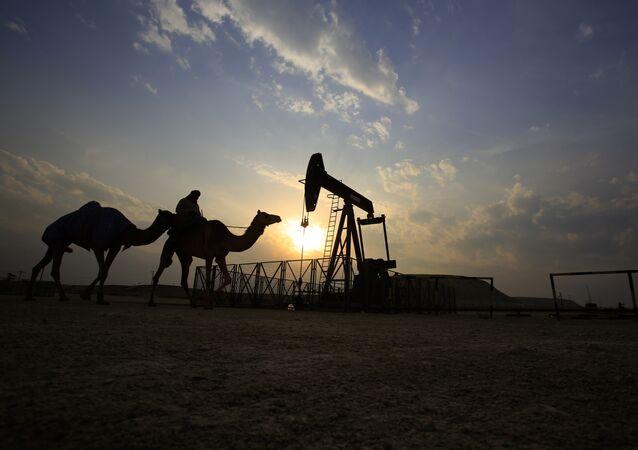 Těžba ropy v Saúdské Arábii