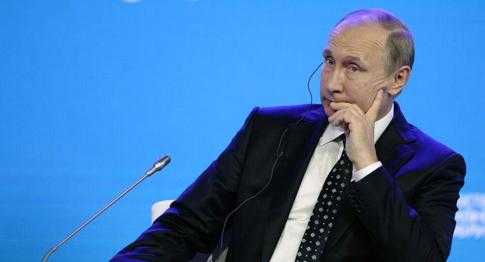 Ruský prezident Vladimir Putin během Dálněvýchodního fóra