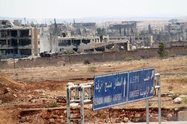 Osvobozené vojenské školy v Aleppu - Sputnik Česká republika