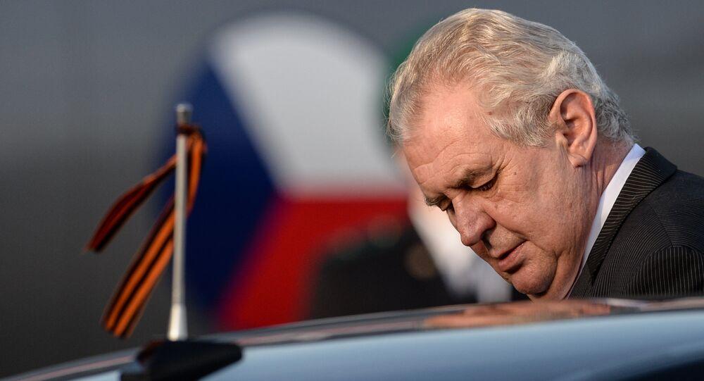 Český prezident Miloš Zeman v Moskvě