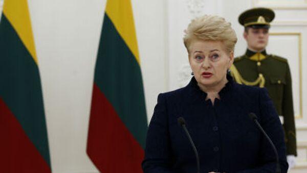 Litevská prezidentka Dalia Grybauskaitėová - Sputnik Česká republika