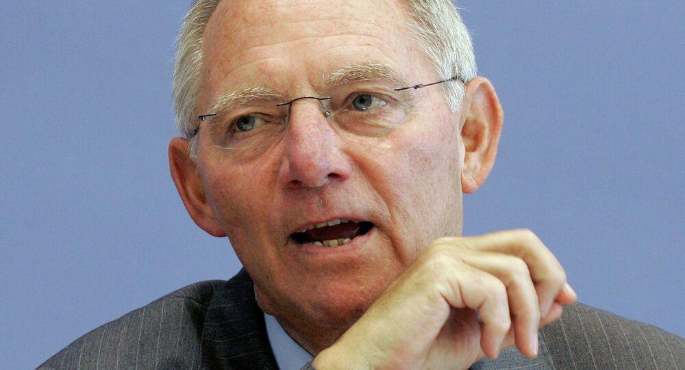 Spolkový ministr financí Wolfgang Schäuble