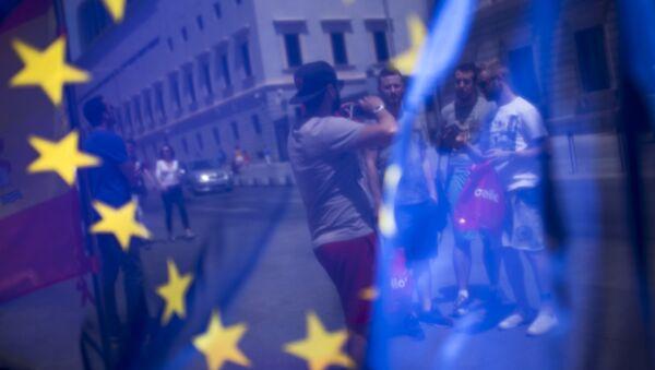 Turisté v Madridu - Sputnik Česká republika