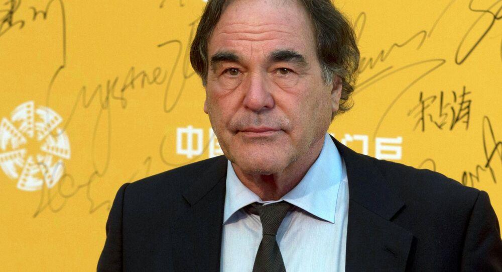 U.S director Oliver Stone at the 4th Beijing International Film Festival