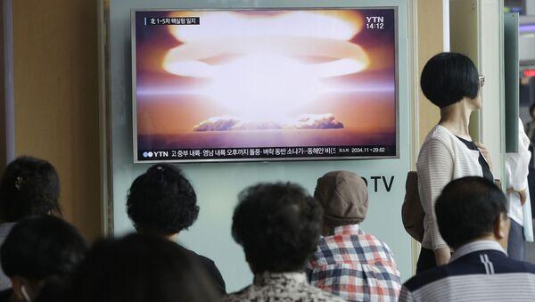 Reportáž o jaderných zkouškách v KLDR - Sputnik Česká republika