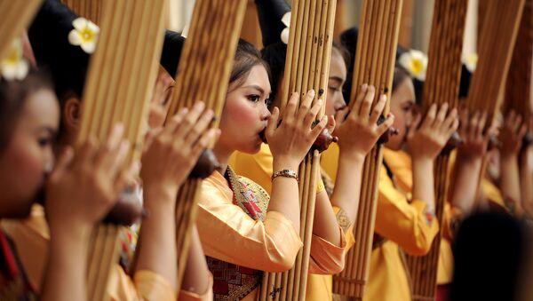 Hudebníci vystupují na summitu ASEAN v Laosu - Sputnik Česká republika