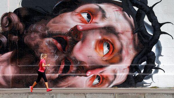 Běžkyně na nábřeží ve Vídni. Ilustrační foto - Sputnik Česká republika