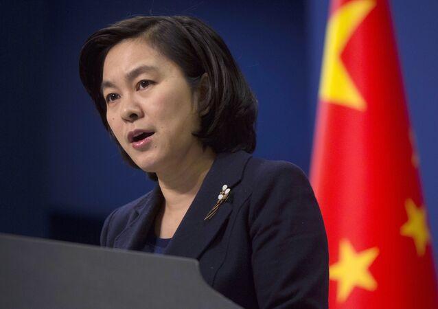 Mluvčí čínského ministerstva zahraničí Chua Čchun-jing