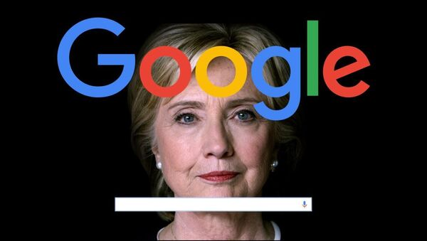 Google a Hillary Clintonová - Sputnik Česká republika