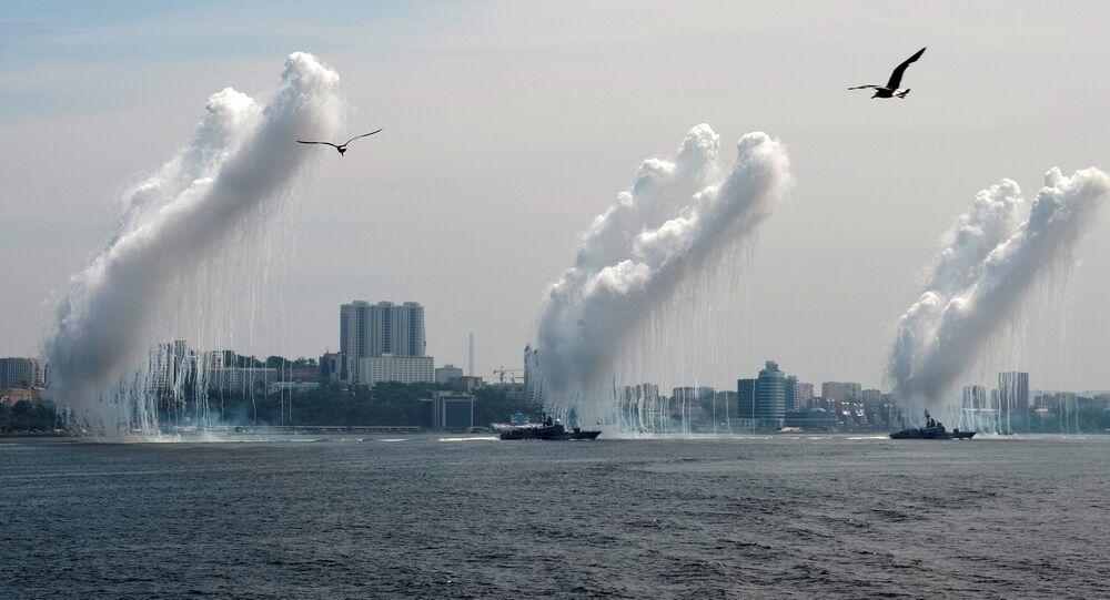 Oslavy Dne vojenského námořnictva ve Vladivostoku