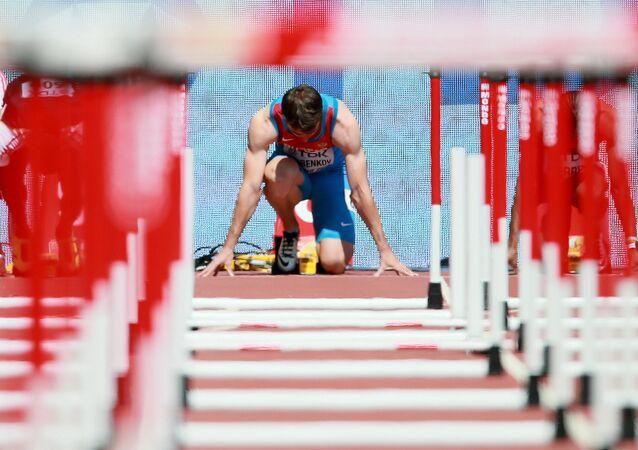 Ruský mistr světa v běhu na 110 metrů s překážkami Sergej Šubenkov