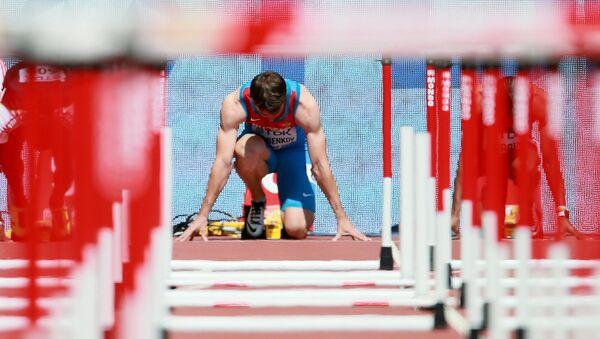 Ruský mistr světa v běhu na 110 metrů s překážkami Sergej Šubenkov - Sputnik Česká republika