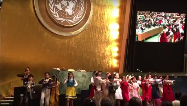 Děti z Jižní Koreje zazpívali DiCapriovi Kalinku na Valném shormáždění OSN - Sputnik Česká republika