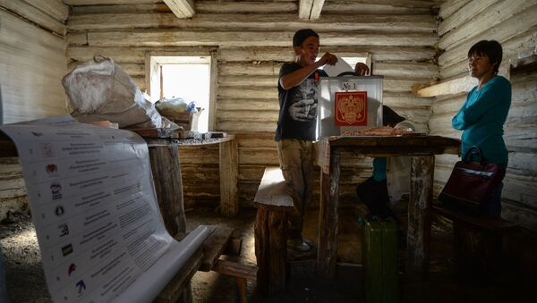 Předčasné hlasování na chovatelských stanicích na Altaji - Sputnik Česká republika