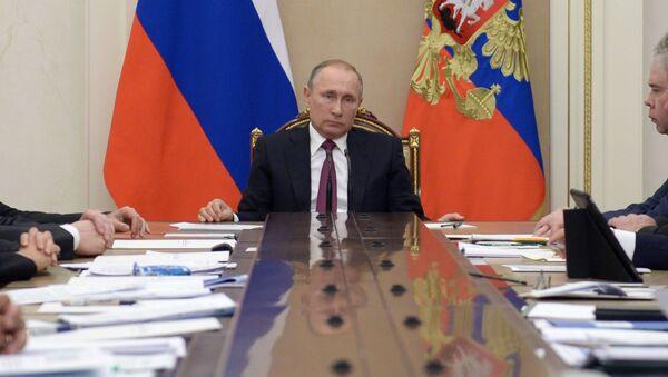 Vladimir Putin v Kremlu - Sputnik Česká republika