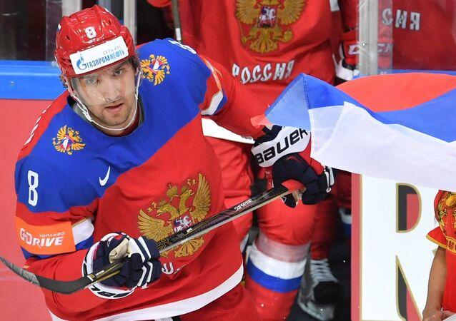 Ruský hokejista klubu Washington Capitals Alexandr Ovečkin