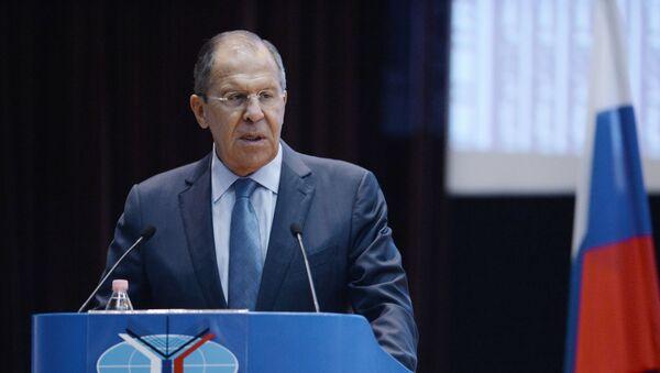 Sergej Lavrov během vystoupení v MGIMO - Sputnik Česká republika