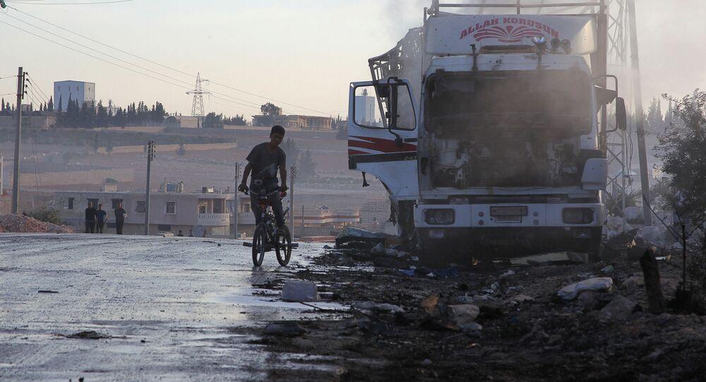Humanitární konvoj po ostřelování