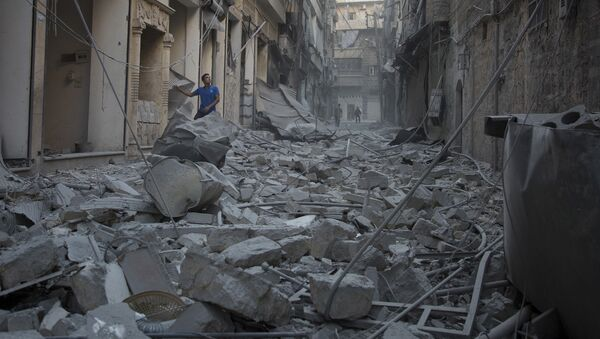 Aleppo po útoku amerického letectva - Sputnik Česká republika