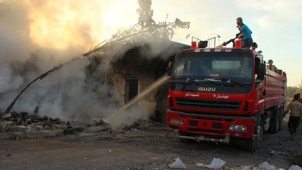Místo útoku na humanitární konvoj v Aleppu - Sputnik Česká republika