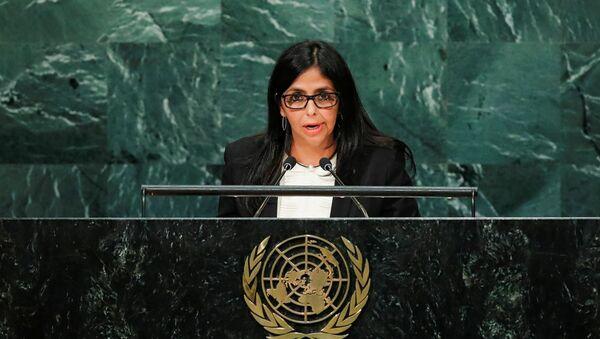Venezuelská ministryně zahraničních věcí Delcy Rodríguezová - Sputnik Česká republika