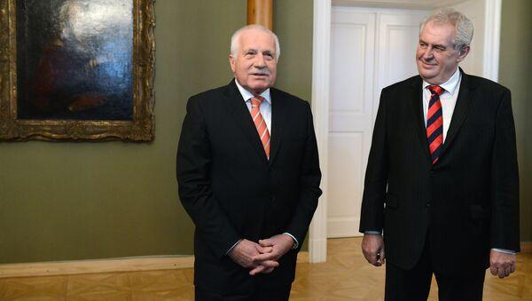 Miloš Zeman a Václav Klaus - Sputnik Česká republika