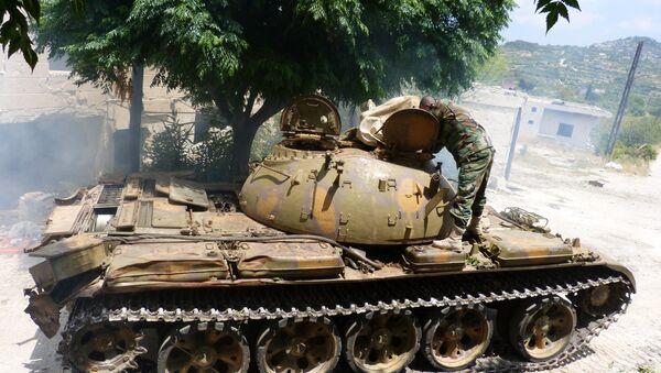 Tank T-55 syrské armády - Sputnik Česká republika