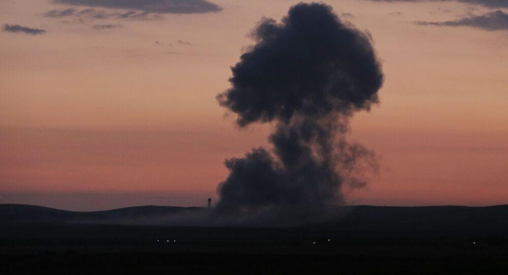 Letecký útok v Sýrii. Archivní foto