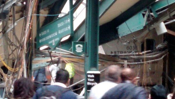 Nehoda vlaku v New Jersey, 29. září 2016. - Sputnik Česká republika