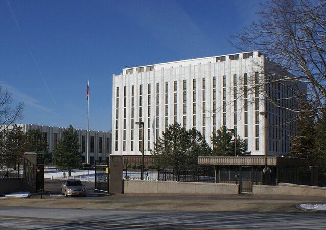 Budova ruského velvyslanectví ve Washingtonu. Ilustrační foto