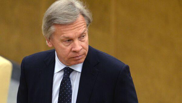 Bývalý předseda Mezinárodního výboru Státní dumy Alexej Puškov - Sputnik Česká republika