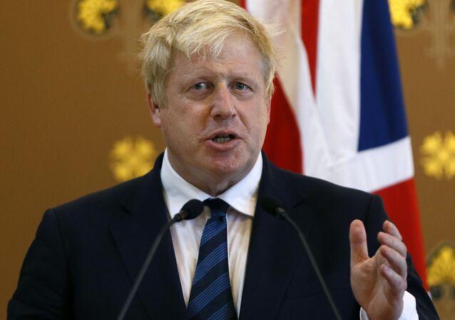 Ministr zahraničí Velké Británie Boris Johnson
