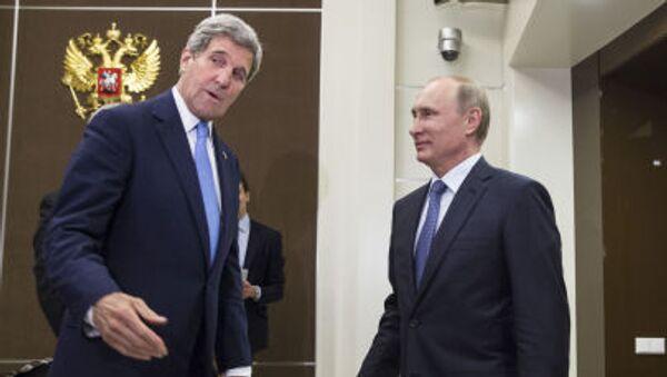 Setkání Vladimira Putina s Johnem Kerrym - Sputnik Česká republika