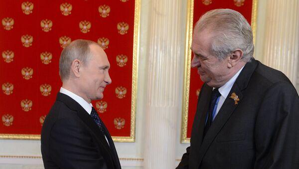 Vladimir Putin a Miloš Zeman - Sputnik Česká republika
