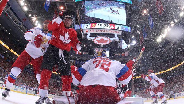 Světový pohár v ledním hokeji, zápas mezi Ruskem a Kanadou - Sputnik Česká republika