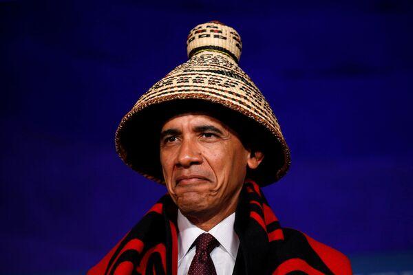 Prezident USA Barack Obama na konferenci kmenových národů v Bílém domě - Sputnik Česká republika