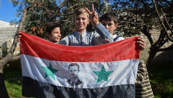 Děti v Aleppu - Sputnik Česká republika