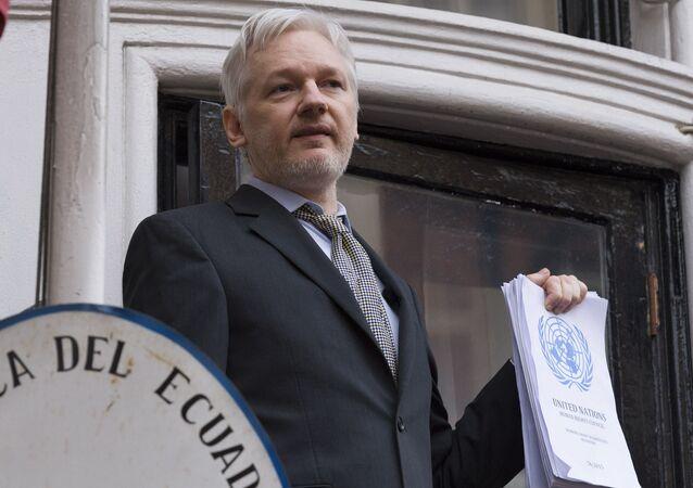 Zakladatel WikiLeaks Julian Assange. Ilustrační foto
