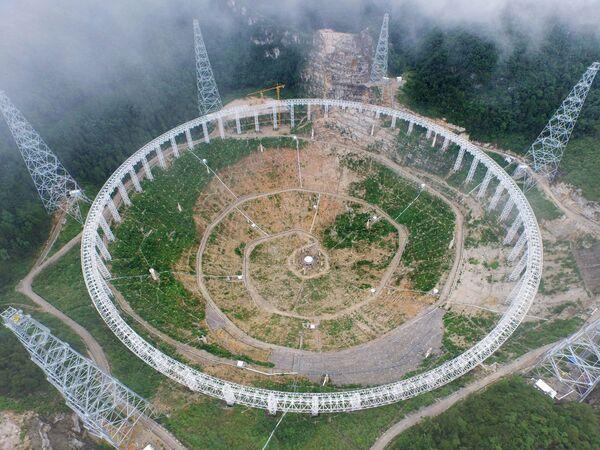 Stavba radioteleskopu FAST - Sputnik Česká republika
