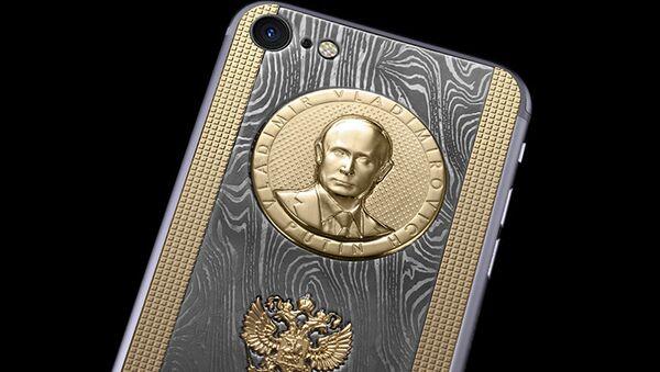 iPhone 7S s reliéfem prezidenta Vladimira Putina - Sputnik Česká republika