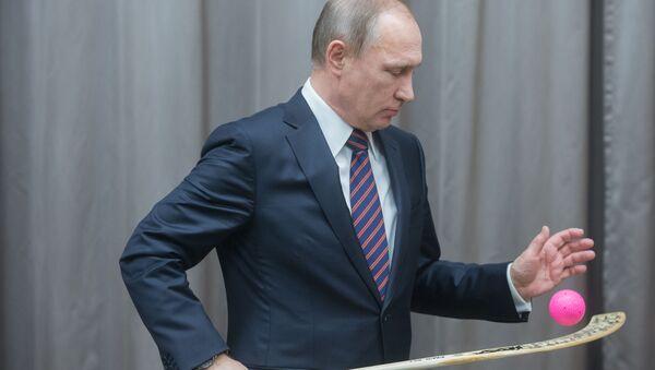 Vladimir Putin během setkání s ruskou reprezentací - Sputnik Česká republika