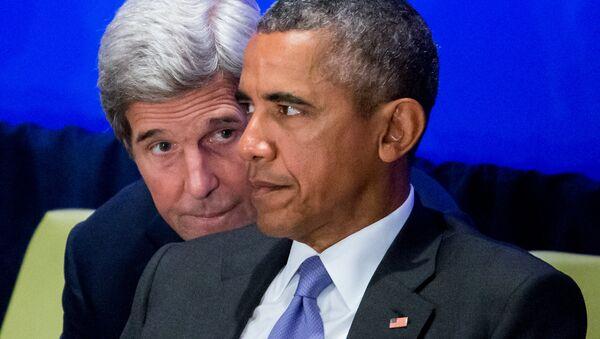 John Kerry a Barack Obama - Sputnik Česká republika