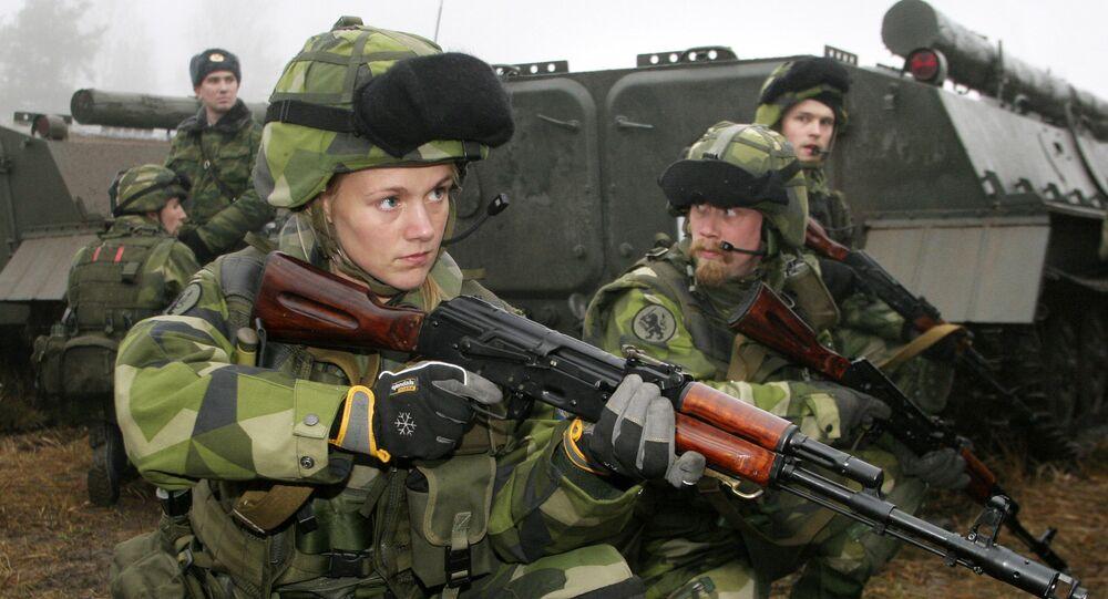 Švédská vojačka. Ilustrační foto